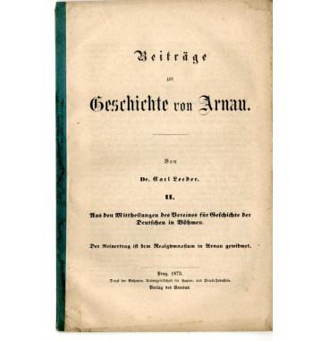 Beiträge zur Geschichte von...